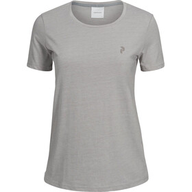 Peak Performance W's Track Tee Med Grey Mel